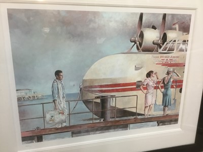 Lot 70 - Peregrine Heathcote (b.1973) signed limited edition artists proof giclee print - 'In Pursuit of Dreams', 15/150, 67cm x 48cm, in glazed frame