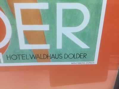 Lot 72 - Modern coloured print - Dolder Grand Hotel, Zurich, 69cm x 49cm, in glazed frame