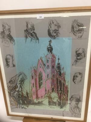 Lot 168 - Feliks Topolski (1907-1989) signed limited edition lithograph - Lord Hailsham, 101/275, 67cm x 51cm, in glazed frame