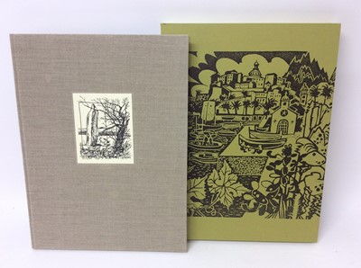 Lot 111 - The Old Stile Press - Rigby Graham. Kippers and Sawdust, limited signed edition, 1992, folio in slip case, together with a box of other publications featuring the illustrations of Rigby Graham incl...