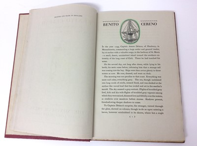 """Lot 17 - Herman Melville ; """"Benito Cereno"""", publ. 1926, illus. by E. McKinght Kauffer, number 1100;of 1650"""
