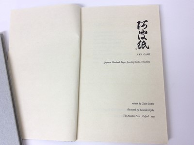 Lot 24 - Claire Bolton: Awa Gami: Japanese Handmade Papers, Alembic Press , also Delittle, Alembic Press