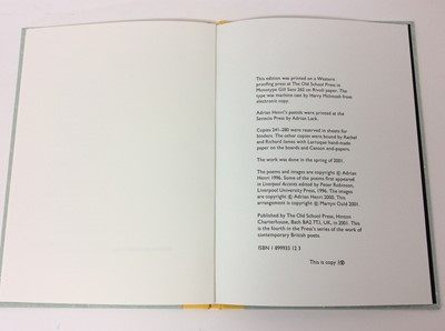 Lot 27 - George Szirtes - Kissing Place, Adrian Henri - Lowlands Away, But flashes of wit'. (3)