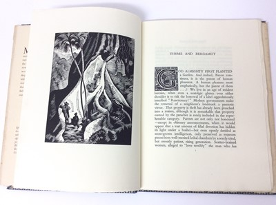 Lot 15 - Christopher Sandeman - Thyme and Bergamot, illustrated by John O'Connor, Dropmore Press, 1947, numbered 179/550, with dust jacket, 27cm high