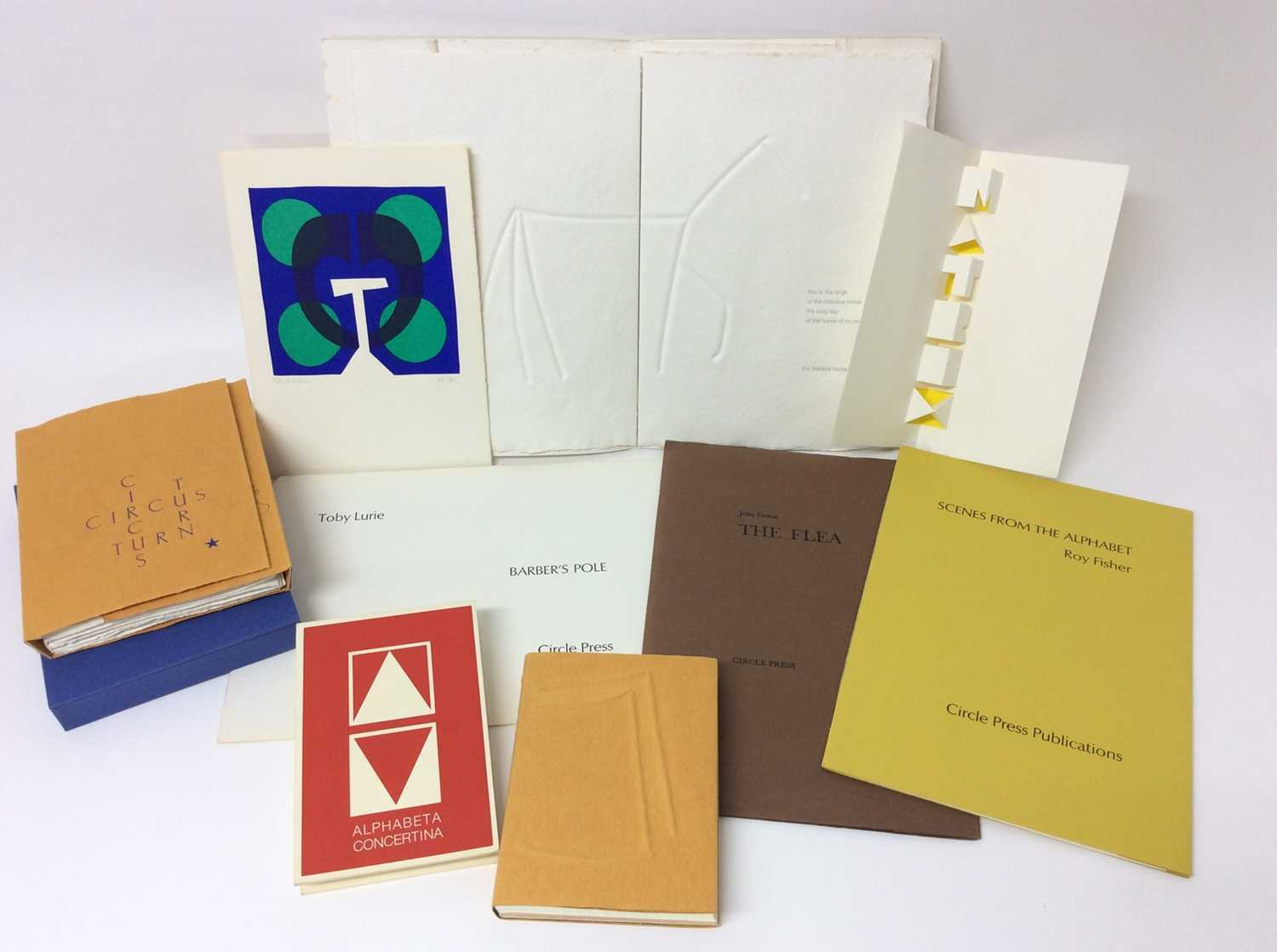 Lot 32 - Ronald King and Circle Press publications, good collection (9)