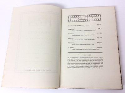 Lot 34 - The Seasons by James Thomson, Nonesuch Press 1927, numbered 186 out of 1,500 copies, 1927