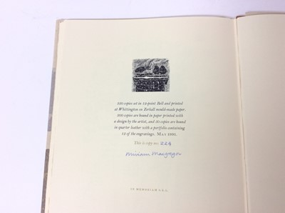 Lot 36 - Miriam MacGregor - Whittington, Aspects of a Cotswold village, limited edition of 350 numbered and signed by the artist, Whittington Press, 1991