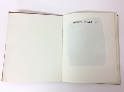 Lot 39 - Alfred Tennyson - Morte d'Arthur, printed London Central School or Arts and Crafts, Holborn