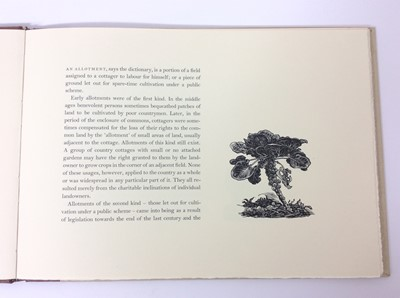 Lot 40 - Margaret Macgregor - Allotments, Whittington Press, 1985, signed and numbered 152/300