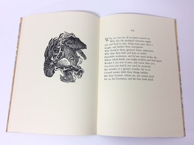 Lot 42 - Margaret Lock - Poem about nothing, William of Poitiers, four other private press books