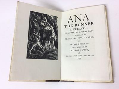 Lot 53 - Patrick Miller - Ana The Runner, Golden Cockerel Press 1937