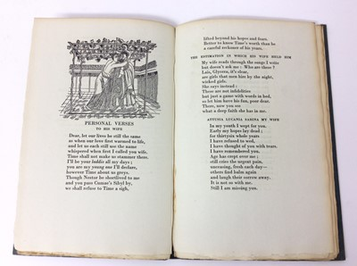 Lot 54 - Patchwork Quilt. Poems by Decimus Magnus Ausonius, with illustrations by Edward Bawden, Franfrolico Press, 1930