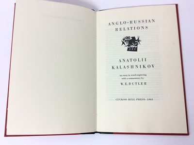 Lot 55 - Anatolii Kalashnikov - Anglo- Russian Relations, three other private press publications