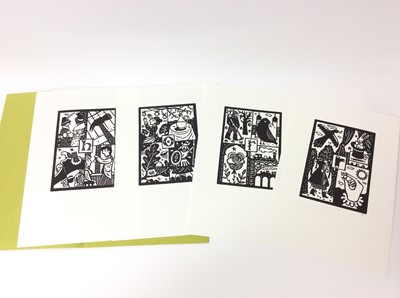 Lot 62 - Christopher Brown - 'An Anamorphic Alphabet' Previous Parrot Press 1999