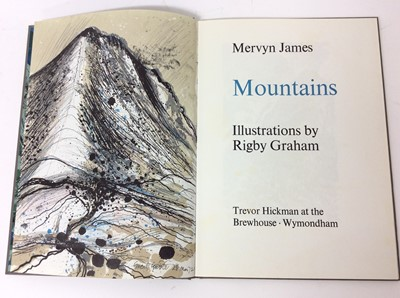 Lot 68 - Mervyn James - Mountains, illustrated by Rigby Graham, Brewhouse Publications 1972, 112/200