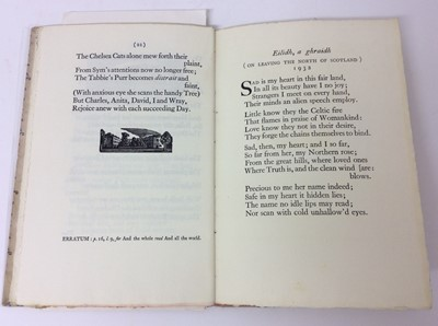 Lot 73 - Sappho - illustrated by Lettice Sandford, Boars Head Press 1932, together with two further private press books
