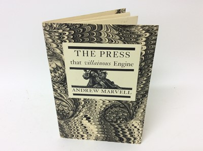 Lot 80 - Andrew Marvell - The Press, together with seven private publications relating to printing