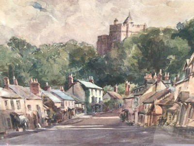Lot 9 - B. M. Steel, watercolour - Townscape, signed and dated 1924, 24cm x 29cm, in glazed frame