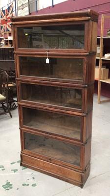 Lot 856 - Globe Wernicke five section bookcase