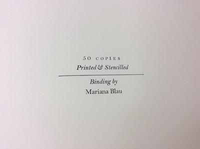 Lot 88 - Narci & Echo, Weather Bird Press, 2005, one of 50 copies, together with three other Weather Bird Press publications