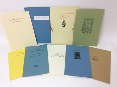 Lot 99 - A bundle of private press booklets
