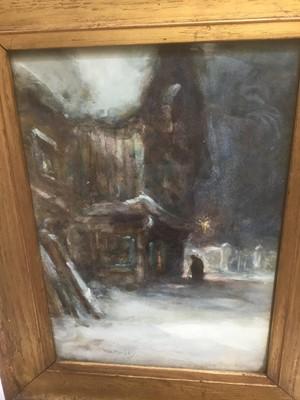 Lot 36 - Thomas William Morley (1859-1925) watercolour, snowy scene