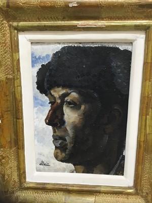 Lot 71 - Amalio Garcia del Moral (1992-1995) oil portrait of a matador in gilt frame