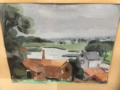 Lot 68 - Interesting oil on canvas painting of Thorrington Mill, inscribed verso, in gilt frame