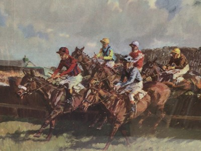 Lot 19 - Peter Biegel (1913-1988) coloured print - The Whitbread Gold CUp, 1966, 20cm x 24cm, in glazed gilt frame