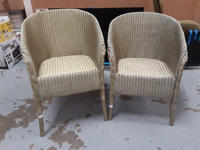 Lot 886 - Two 1930s Lloyd Loom chairs