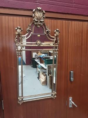 Lot 897 - Good quality gilt framed wall mirror, 51.5cm wide, 108cm high