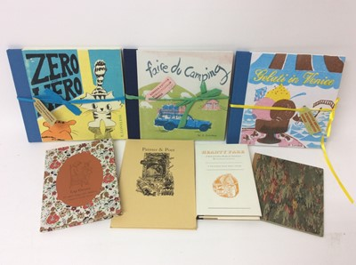 Lot 103 - E Loveless - three limited edition screenprinted books, various others