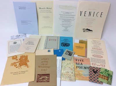 Lot 107 - A large bundle of publications relating to private press, also correspondence by Miriam Macgregor and others
