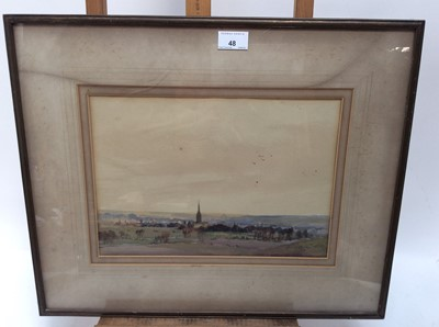Lot 48 - Henry Franks Waring, early 20th century, watercolour - extensive landscape, signed and dated '14, 24cm x 34cm, in glazed frame