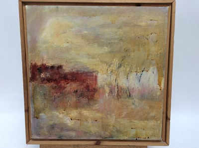 Lot 56 - English School, oil on canvas, 2nd half 20th century - Abstract, 36cm square, framed