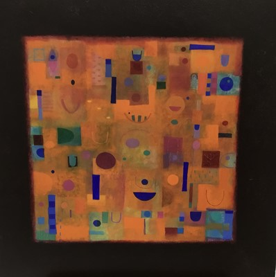 Lot 77 - Tim Jee (contemporary) oil on board, The Golden Strait, signed titled and dated 1995, 46 x 46cm