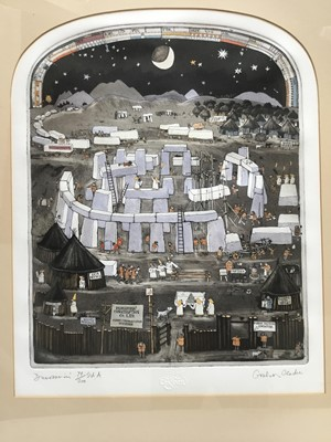 Lot 121 - Graham Clarke (b. 1941) etching and aquatint 'Dunroamin', signed and numbered 79/200, plate 43 x 34cm, glazed frame