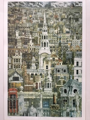 Lot 127 - Andrew Ingermells (b. 1956) etching and aquatint, 'Lost London', signed and numbered 226/300. 72 x 46cm, glazed frame
