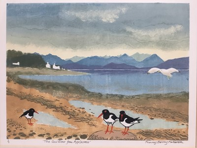 Lot 140 - Penny Berry Patterson (1941-2021) colour monotype print 'The Cuillins from Applecross, signed titled and numbered 1/1, 26 x 34cm