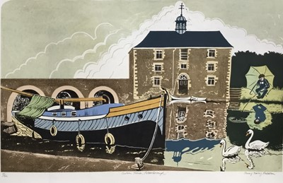 Lot 119 - Penny Berry Paterson (1941-2021) colour linocut- Custom House, Peterborough, image 47 x 75cm, signed titled and numbered 15/22