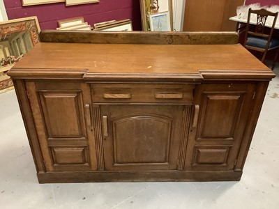 Lot 857 - 1930s oak sideboard with one draw and three cupboard doors