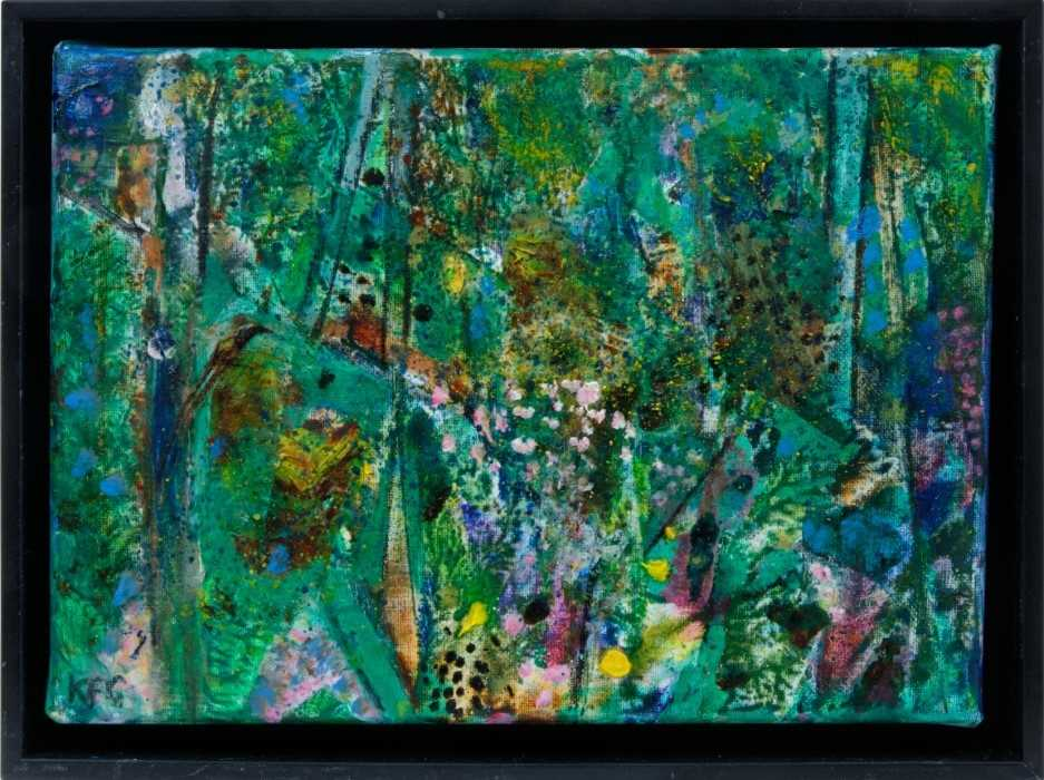 Lot 1714 - *Keith Grant (b.1930) oil on linen - In a Summer Garden
