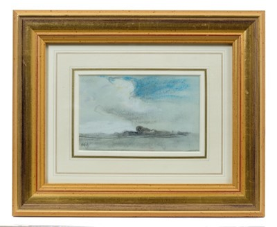 Lot 1742 - Hercules Brabazon Brabazon (1821-1906) pencil and pastel on tinted paper – Clouds over a Landscape, initialled, in glazed gilt frame, 8cm x 13cm  Provenance: Chris Beetles Ltd. London