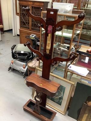 Lot 875 - Victorian mahogany hall stand