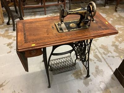 Lot 910 - Victorian treadle sewing machine