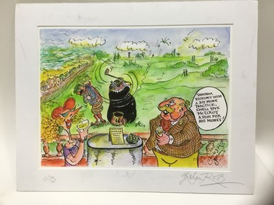 Lot 43 - Graham Ross, contemporary, pen, ink and watercolour illustration - Frinton Gold Club, signed and inscribed
