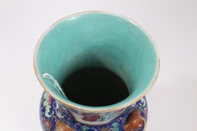 Lot 58 - 19th century Chinese famille rose porcelain vase