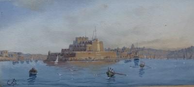 Lot 38 - Gaetano Esposito (1852-1911) two gouache depictions of Valletta