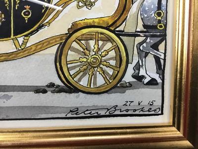 Lot 1796 - Peter Brookes (b.1943) pen, ink and watercolour cartoon - Pooper Scoopers