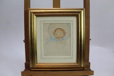 Lot 1730 - *Mabel Lucie Attwell (1879-1964) pencil and watercolour - The Blue Bonnet, signed, in glazed gilt frame, 14cm x 11.5cm  Provenance: Chris Beetles Ltd. London